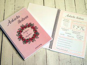 Ankieta ślubna w formie książki